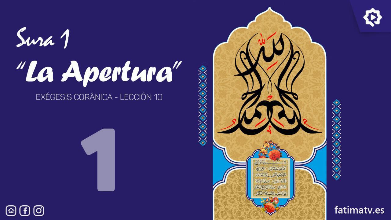 """Sura 1, """"La Apertura"""" (1)"""