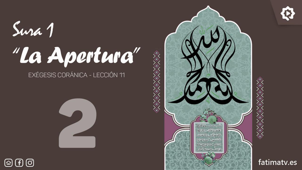 """Sura 1, """"La Apertura"""" (2)"""